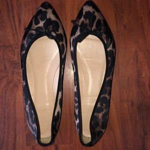 JCREW Animal Print Pointy Toed Ballet Flats